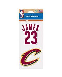 Cleveland Cavaliers 2x nalepka LeBron James