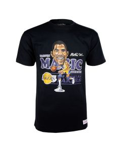 Magic Johnson 32 Los Angeles Lakers Mitchell & Ness Caricature T-Shirt