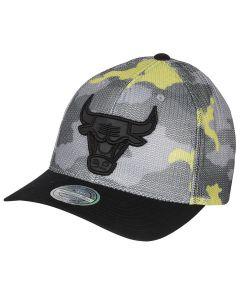 Chicago Bulls Mitchell & Ness Flou Camo Flexfit 110 Mütze
