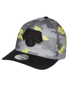 New York Knicks Mitchell & Ness Flou Camo Flexfit 110 Mütze