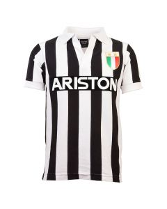 Juventus V-Neck Home Retro Trikot 1984