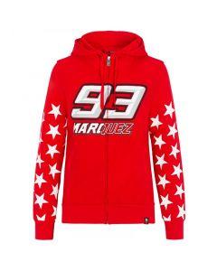 Marc Marquez MM93 Stars ženska zip majica sa kapuljačom