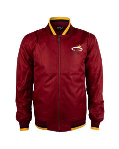 Miami Heat New Era Apparel Varsity Jacke