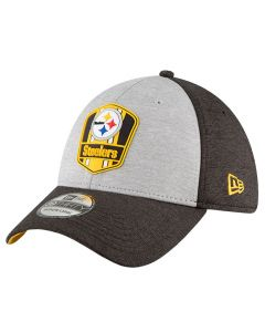 Pittsburgh Steelers New Era 39THIRTY 2018 NFL Official Sideline Road Mütze