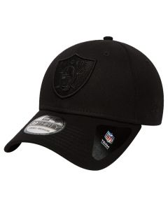 Oakland Raiders New Era 39THIRTY Black On Black kapa