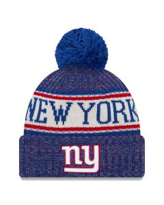 New York Giants New Era 2018 NFL Cold Weather Sport Knit zimska kapa