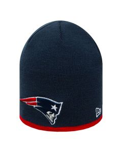 New England Patriots New Era Team Skull Knit zimska kapa