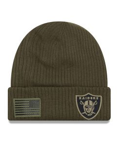 Oakland Raiders New Era 2018 Salute To Service Sideline Cuff Wintermütze