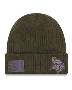 Minnesota Vikings New Era 2018 Salute To Service Sideline Cuff Wintermütze