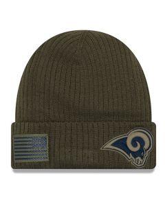 Los Angeles Rams New Era 2018 Salute To Service Sideline Cuff Wintermütze