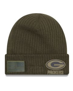 Green Bay Packers New Era 2018 Salute To Service Sideline Cuff Wintermütze