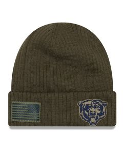 Chicago Bears New Era 2018 Salute To Service Sideline Cuff Wintermütze