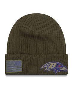 Baltimore Ravens New Era 2018 Salute To Service Sideline Cuff Wintermütze