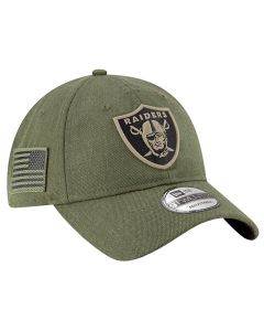 Oakland Raiders New Era 9TWENTY 2018 Salute To Service Sideline kačket