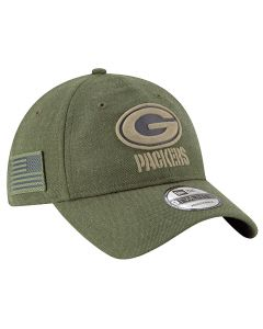Green Bay Packers New Era 9TWENTY 2018 Salute To Service Sideline Mütze