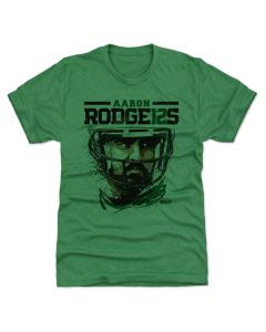 Aaron Rodgers 500 Level Rodge12S G Heather Kelly Green T-Shirt