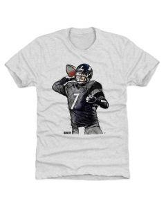 Ben Roethlisberger 500 Level Rodge Sketch K Tri Ash T-Shirt
