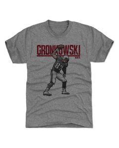 Rob Gronkowski 500 Level Hyper G Tri Gray T-Shirt