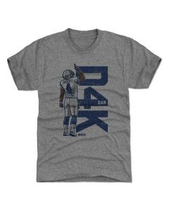 Dak Prescott 500 Level D4K B Tri Gray T-Shirt