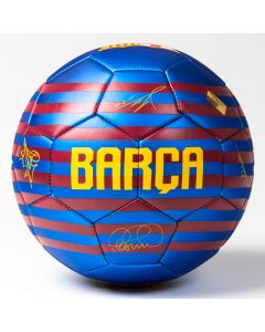 FC Barcelona 1st Team Ball mit Unterschriften