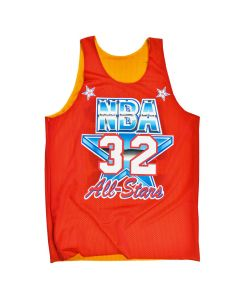 Magic Johnson 32 Los Angeles Lakers All Star 1991 Mitchell & Ness Mesh Tank Top beidseitig tragbar