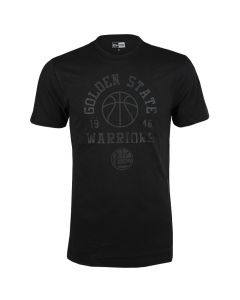 Golden State Warriors New Era Tonal Black Logo majica