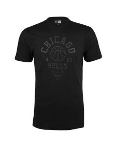 Chicag Bulls New Era Tonal Black Logo majica