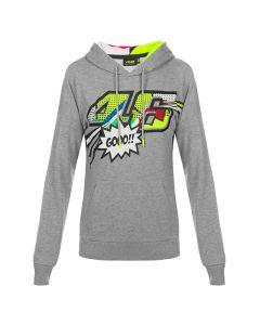 Valentino Rossi VR46 Pop Art ženski pulover s kapuco