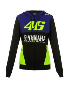 Valentino Rossi VR46 Yamaha ženska jopica s kapuco