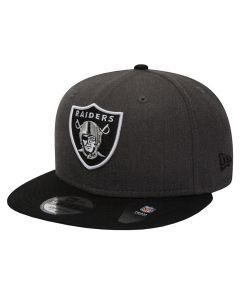 Oakland Raiders New Era 9FIFTY Heather Mütze
