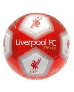 Liverpool lopta sa potpisima