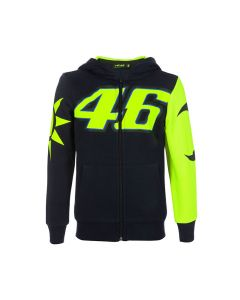 Valentino Rossi VR46 Sun and Moon Kinder Kapuzenjacke