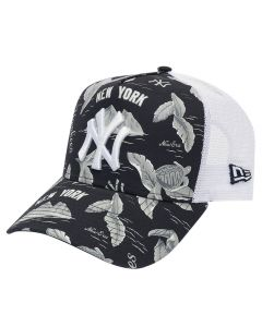 New York Yankees New Era A Frame Trucker Desert Island kapa