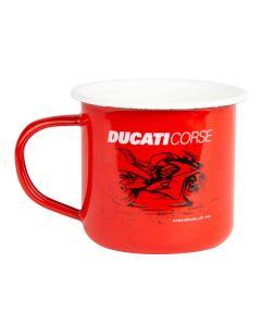 Ducati Corse emaillierte Tasse