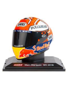 Marc Marquez MM93 Replica des Helms Modell  WC2018 1:5
