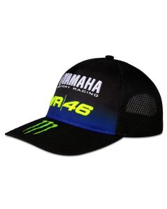 Valentino Rossi VR46 Yamaha Monster Black Trucker Mütze