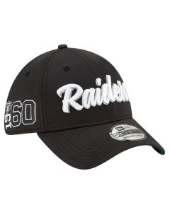 Oakland Raiders New Era 39THIRTY 2019 NFL Official Sideline Home 1960s kačket