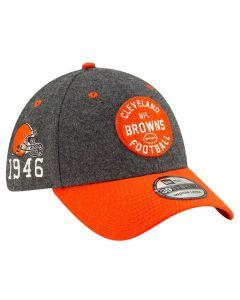 Cleveland Browns New Era 39THIRTY 2019 NFL Official Sideline Home 1946s kačket