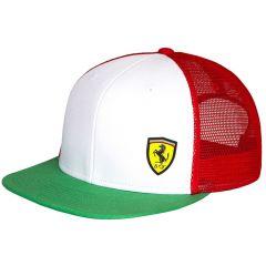 Ferrari Tricolore Trucker kapa