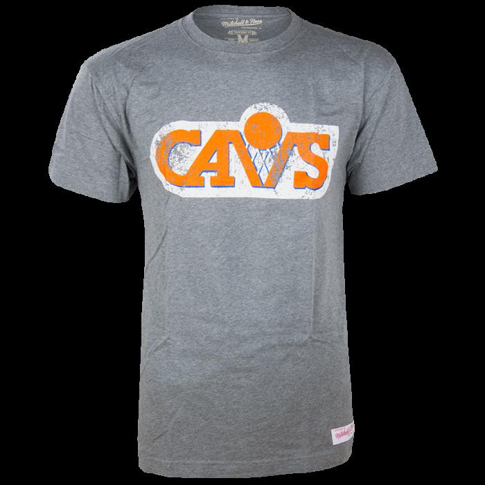 Cleveland Cavaliers Mitchell   Ness Distressed HWC Logo T-shirt ... 15108e36cb1a