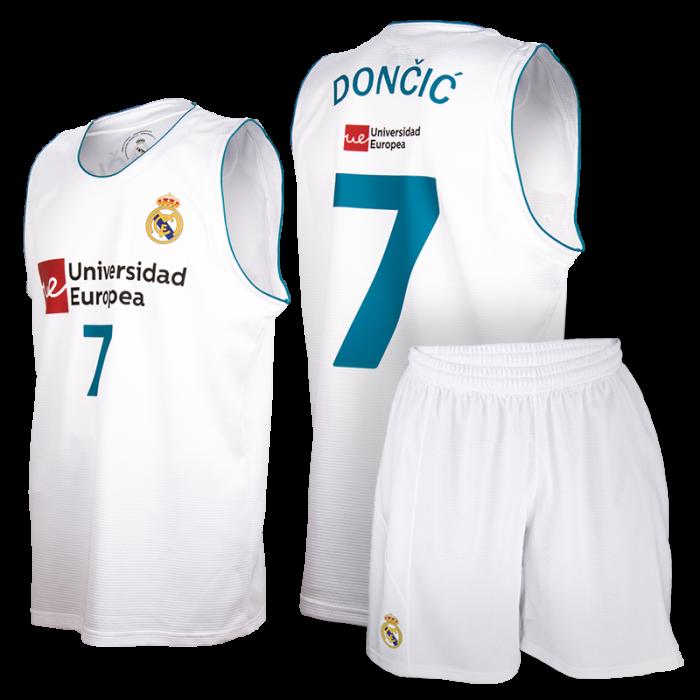 Real Madrid Baloncesto Replica Komplet Set Kinder Trikot Dončić