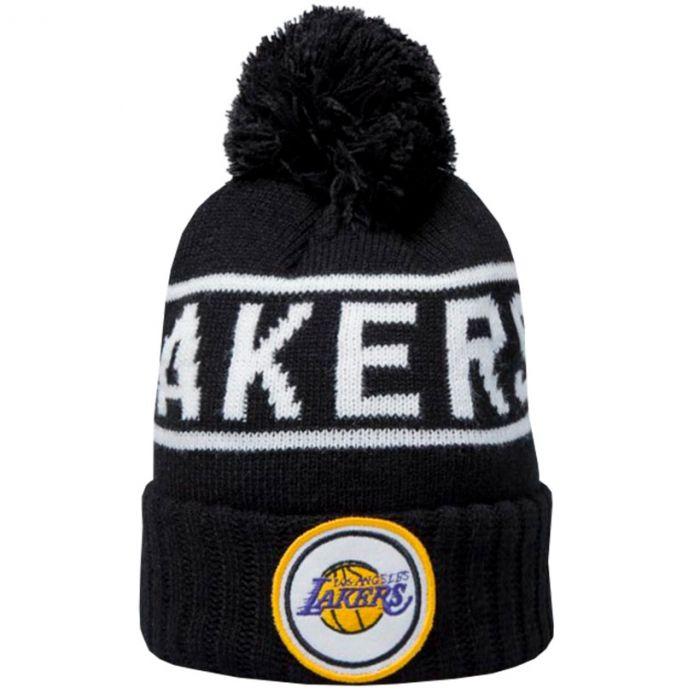 Los Angeles Lakers Mitchell & Ness Glow In The Dark Pom Knit zimska kapa