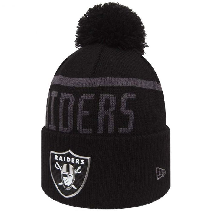 Oakland Raiders New Era Black Collection Bobble Cuff zimska kapa (80536182)