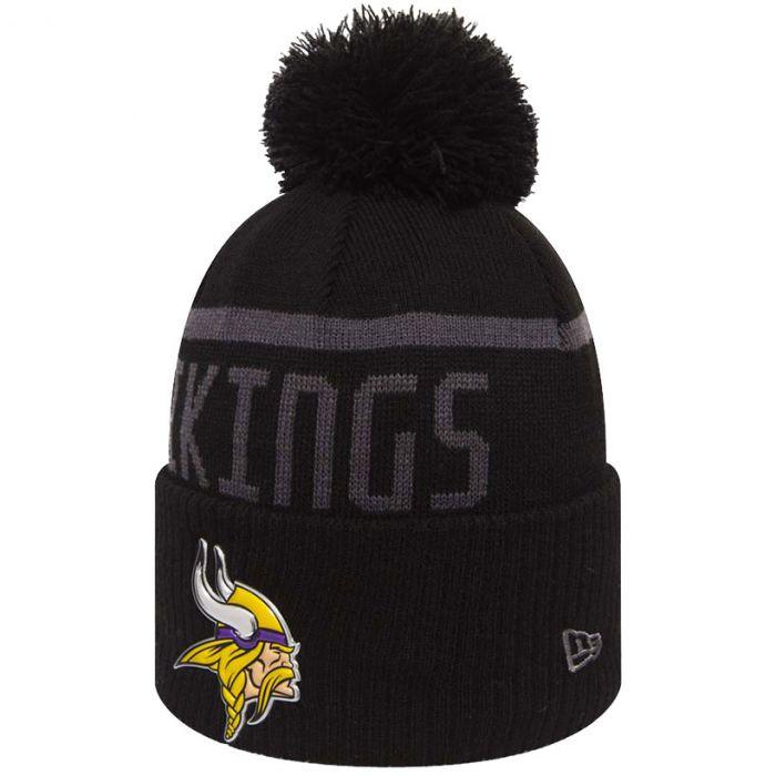 Minnesota Vikings New Era Black Collection Bobble Cuff zimska kapa (80536186)