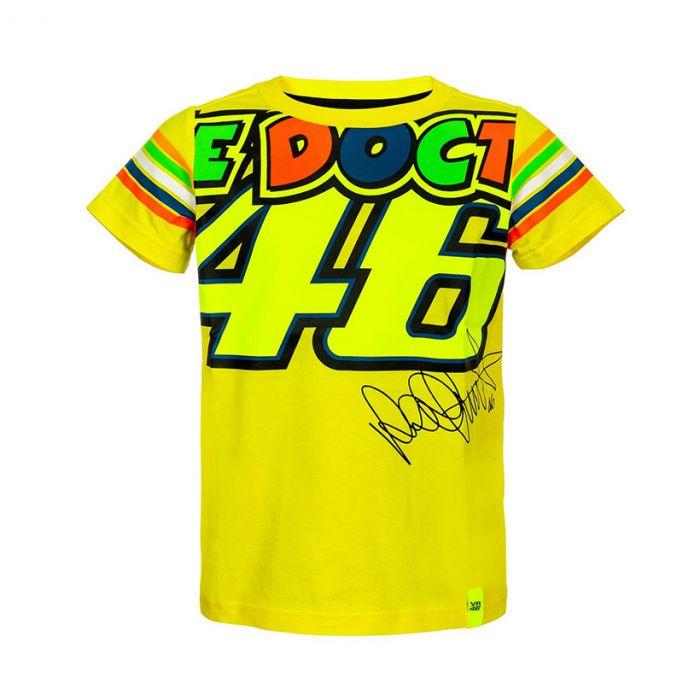Valentino Rossi Vr46 Stripes Kinder T Shirt Vrkts307901 Stadionshop