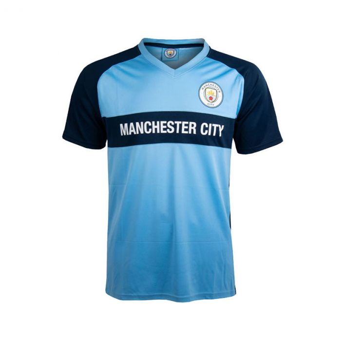 Manchester City V-Neck Panel otroška trening majica