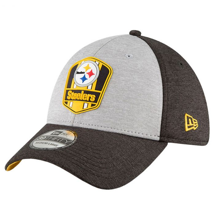 Pittsburgh Steelers New Era 39THIRTY 2018 NFL Official Sideline Road  cappellino d57975e32e06