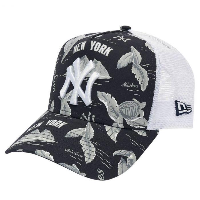 New York Yankees New Era A Frame Trucker Desert Island kapa