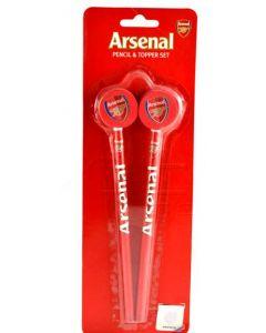 Arsenal 2x Bleistift mit Radiergummi