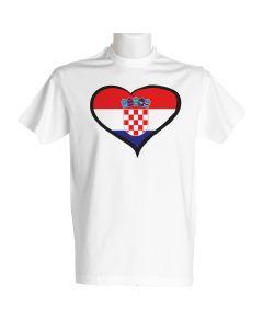 Hrvaška moška majica srce